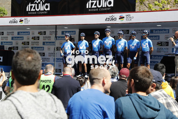 Cycling: Itzulia / Vuelta a País Vasco / Tour Basque Country / Stage 6 / Etapa 6<BR>DESCRIPTION / DESCRIPCION / Team Movistar<BR>Eibar - Eibar (118,2 Km)  13-04-2019 / Tour Basque Country / Luis Angel Gomez ©PHOTOGOMEZSPORT2019