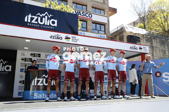 Cycling: Itzulia / Vuelta a País Vasco / Tour Basque Country / Stage 6 / Etapa 6<BR>DESCRIPTION / DESCRIPCION / Team Katyusha Alpecin<BR>Eibar - Eibar (118,2 Km)  13-04-2019 / Tour Basque Country / Luis Angel Gomez ©PHOTOGOMEZSPORT2019