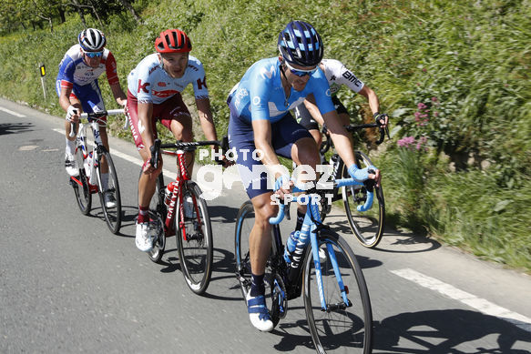 Cycling: Itzulia / Vuelta a País Vasco / Tour Basque Country / Stage 6 / Etapa 6<BR>DESCRIPTION / DESCRIPCION / SLAGTER, Tom-Jelte (NED)/ ARMIRAIL, Bruno (FRA)/ FERNANDEZ, Ruben (ESP)/ STRAKHOV, Dmitrii (RUS)/ Escapada escape/<BR>Eibar - Eibar (118,2 Km)  13-0