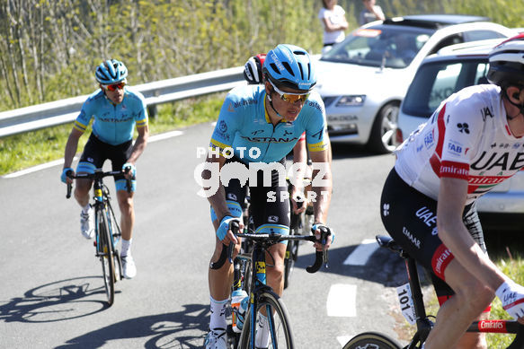Cycling: Itzulia / Vuelta a País Vasco / Tour Basque Country / Stage 6 / Etapa 6<BR>Breakaway / Ecapada / IZAGUIRRE, Ion (ESP)  FULSANG, Jacob (DEN) <BR>Eibar - Eibar (118,2 Km)  13-04-2019 / Tour Basque Country / Luis Angel Gomez ©PHOTOGOMEZSPORT2019