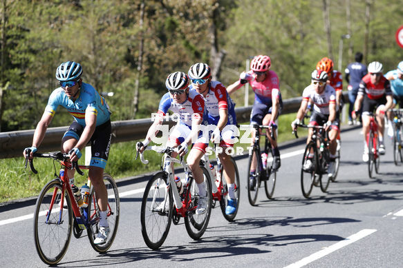 Cycling: Itzulia / Vuelta a País Vasco / Tour Basque Country / Stage 6 / Etapa 6<BR>Bunch / Peloton / IZAGUIRRE, Gorka (ESP) GAUDU, David (FRA)<BR>Eibar - Eibar (118,2 Km)  13-04-2019 / Tour Basque Country / Luis Angel Gomez ©PHOTOGOMEZSPORT2019