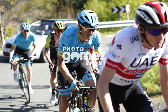 Cycling: Itzulia / Vuelta a País Vasco / Tour Basque Country / Stage 6 / Etapa 6<BR>Breakaway / Ecapada / IZAGUIRRE, Ion (ESP) FULSANG, Jacob (DEN) YATES, Adam (GBR)<BR>Eibar - Eibar (118,2 Km)  13-04-2019 / Tour Basque Country / Luis Angel Gomez ©PHOTOGOMEZS