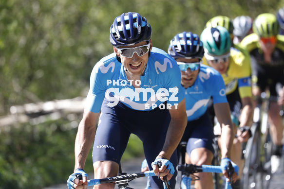Cycling: Itzulia / Vuelta a País Vasco / Tour Basque Country / Stage 6 / Etapa 6<BR>Bunch / Peloton / VERONA, Carlos (ESP) LANDA, Mikel (ESP) BUCHMANN, Emanuel (GER)<BR>Eibar - Eibar (118,2 Km)  13-04-2019 / Tour Basque Country / Luis Angel Gomez ©PHOTOGOMEZS