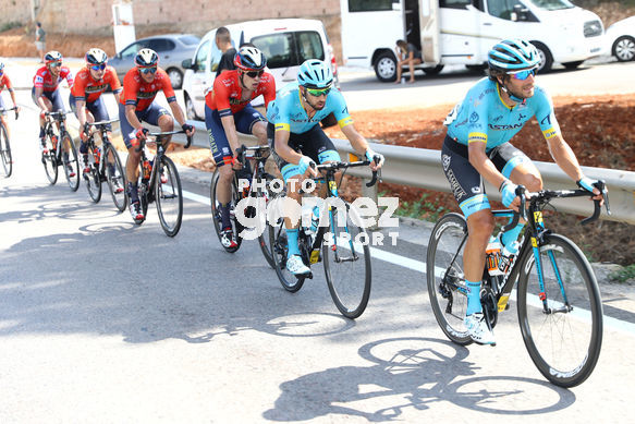 Cycling: Vuelta España 2019 / Tour of Spain 2019/ La Vuelta/ Etapa 7/ Stage 7/ <BR>BOARO Manuele (ITA) / CATALDO Dario (ITA)<BR>Onda - Mas de la Costa (183,2 km) 30-08-2019/<BR>Vuelta España 2019 / La Vuelta/ Tour of Spain 2019/<BR>Luis Angel Gomez <BR>©PHOTOGOMEZSPO