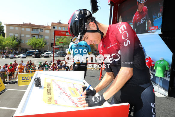 Cycling: Vuelta España 2019 / Tour of Spain 2019/ La Vuelta/ Etapa 8/ Stage 8/ <BR>CONTROL DE FIRMAS/ SIGNATURE/ DE LA CRUZ David (ESP)<BR>Valls - Igualada (166,9 km) 31-08-2019/<BR>Vuelta España 2019 / La Vuelta/ Tour of Spain 2019/<BR>Luis Angel Gomez <BR>©PHOTOGOM