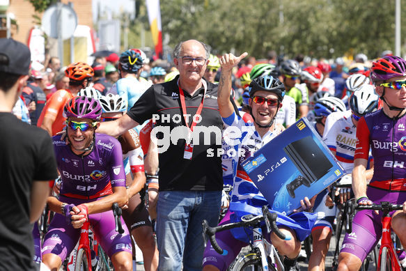 Cycling: Vuelta España 2019 / Tour of Spain 2019/ La Vuelta/ Etapa 8/ Stage 8/ <BR>SALIDA START/ MAILLOT MONTAÑA/ MOUNTAIN JERSEY MADRAZO RUIZ Angel (ESP)<BR>Valls - Igualada (166,9 km) 31-08-2019/<BR>Vuelta España 2019 / La Vuelta/ Tour of Spain 2019/<BR>Luis Ang