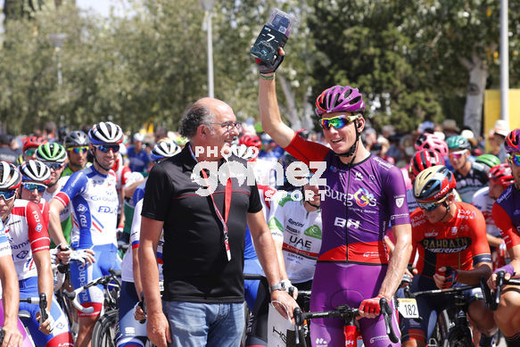 Cycling: Vuelta España 2019 / Tour of Spain 2019/ La Vuelta/ Etapa 8/ Stage 8/ <BR>SALIDA START/ BOL Jetse (NED)<BR>Valls - Igualada (166,9 km) 31-08-2019/<BR>Vuelta España 2019 / La Vuelta/ Tour of Spain 2019/<BR>Luis Angel Gomez <BR>©PHOTOGOMEZSPORT2019