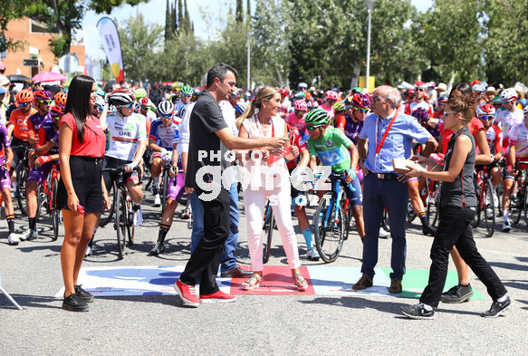 Cycling: Vuelta España 2019 / Tour of Spain 2019/ La Vuelta/ Etapa 8/ Stage 8/ <BR>SALIDA START/ GUILLEN Javier (ESP)/ Corte de cinta<BR>Valls - Igualada (166,9 km) 31-08-2019/<BR>Vuelta España 2019 / La Vuelta/ Tour of Spain 2019/<BR>Luis Angel Gomez <BR>©PHOTOGOMEZ