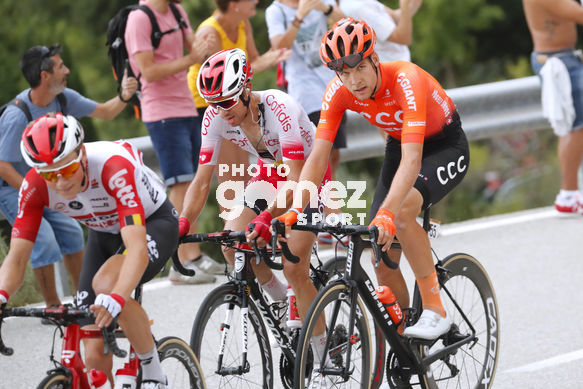 Cycling: Vuelta España 2019 / Tour of Spain 2019/ La Vuelta/ Etapa 8/ Stage 8/ <BR>ESCAPADA BREAKAWAY/ HAGEN Carl Fredrik (NOR)/ KOCH Jonas (GER)<BR>lada (166,9 km) 31-08-2019/<BR>Vuelta España 2019 / La Vuelta/ Tour of Spain 2019/<BR>Luis Angel Gomez <BR>©PHOTOGOMEZ