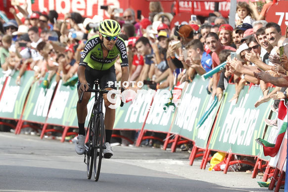 Cycling: Vuelta España 2019 / Tour of Spain 2019/ La Vuelta/ Etapa 11/ Stage 11/ <BR>LLEGADA/ ARRIVAL/ SPRINT/ CELEBRACIÓN CELEBRATION/ ITURRIA SEGUROLA Mikel (ESP)<BR>Saint Palais  - Urdax-Dantxarinea (180 km) 04-09-2019/<BR>Vuelta España 2019 / La Vuelta/ Tou