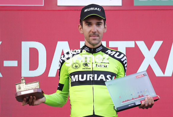Cycling: Vuelta España 2019 / Tour of Spain 2019/ La Vuelta/ Etapa 11/ Stage 11/ <BR>PODIUM/ CELEBRACIÓN CELEBRATION/ ITURRIA SEGUROLA Mikel (ESP)<BR>Saint Palais  - Urdax-Dantxarinea (180 km) 04-09-2019/<BR>Vuelta España 2019 / La Vuelta/ Tour of Spain 2019/<BR>L