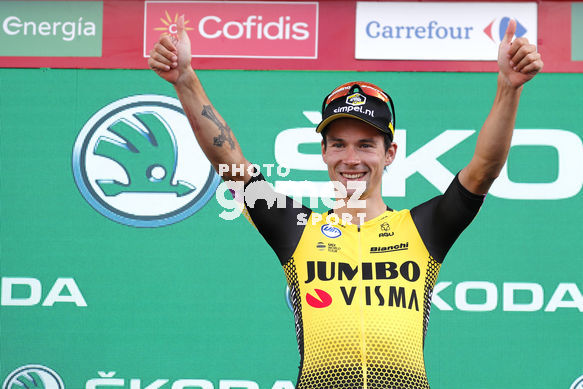 Cycling: Vuelta España 2019 / Tour of Spain 2019/ La Vuelta/ Etapa 11/ Stage 11/ <BR>PODIUM/ CELEBRACIÓN CELEBRATION/ ROGLIC Primoz (SLO)<BR>Saint Palais  - Urdax-Dantxarinea (180 km) 04-09-2019/<BR>Vuelta España 2019 / La Vuelta/ Tour of Spain 2019/<BR>Luis Angel