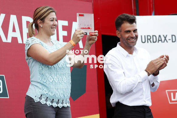 Cycling: Vuelta España 2019 / Tour of Spain 2019/ La Vuelta/ Etapa 11/ Stage 11/ <BR>PODIUM/ CELEBRACIÓN CELEBRATION/ <BR>Saint Palais  - Urdax-Dantxarinea (180 km) 04-09-2019/<BR>Vuelta España 2019 / La Vuelta/ Tour of Spain 2019/<BR>Luis Angel Gomez <BR>©PHOTOGOME
