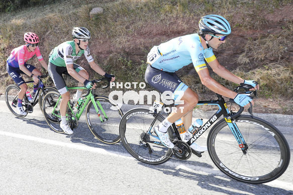 Cycling: Vuelta España 2019 / Tour of Spain 2019/ La Vuelta/ Etapa 11/ Stage 11/ <BR>Breakaway / Escapada / IZAGIRRE INSAUSTI Gorka (ESP) ARANBURU DEBA Alexander (ESP) CRADDOCK G Lawson (USA)<BR>Saint Palais  - Urdax-Dantxarinea (180 km) 04-09-2019/<BR>Vuelta Esp