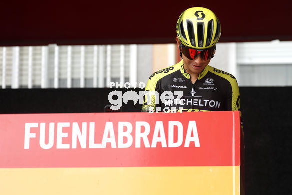 Cycling: Vuelta España 2019 / Tour of Spain 2019/ La Vuelta/ Etapa 21/ Stage 21/ <BR>CONTROL DE FIRMAS/ SIGNATURE/ CHAVES Jhoan Esteban (COL)<BR>Fuenlabrada - Madrid (106,6 km) 15-09-2019/<BR>Vuelta España 2019 / La Vuelta/ Tour of Spain 2019/<BR>Luis Angel Gomez <BR>