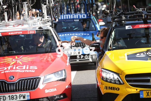 Cycling: Vuelta España 2019 / Tour of Spain 2019/ La Vuelta/ Etapa 21/ Stage 21/ <BR>COCHES EQUIPOS/ TEAM CARS/ BRINDIS<BR>Fuenlabrada - Madrid (106,6 km) 15-09-2019/<BR>Vuelta España 2019 / La Vuelta/ Tour of Spain 2019/<BR>Luis Angel Gomez <BR>©PHOTOGOMEZSPORT2019