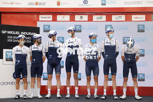 Cycling: Grand Prize Miguel Indurain 2021 / Gran Premio Miguel Indurain Sara Nagusia 2021 /<BR>BERWICK, Sebastian (AUS) <BR>CATAFORD, Alexander (CAN) <BR>HERMANS, Ben Israel (BEL) <BR>NEILANDS, Krists (LAT) <BR>NIV, Guy (ISR) <BR>PICCOLI, James (CAN) <BR>PLAMONDON, Robin (CAN